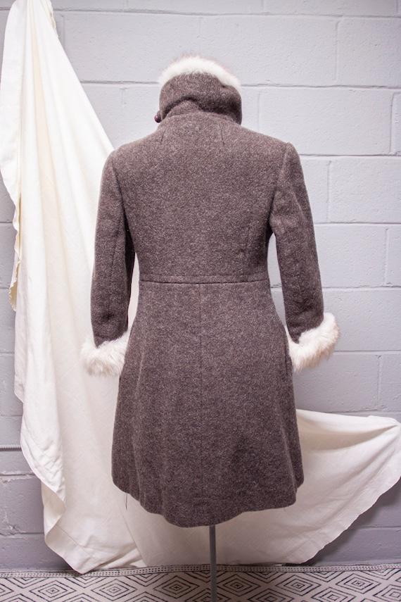 1940s Rabbit Fur and Wool Princess Coat - image 7
