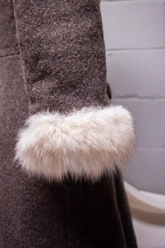 1940s Rabbit Fur and Wool Princess Coat - image 8
