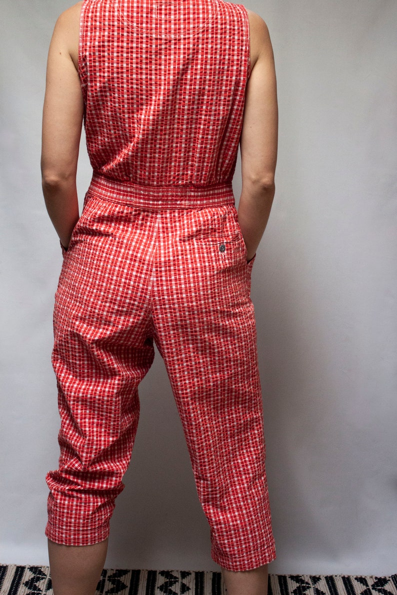 Red Gingham Jumpsuit