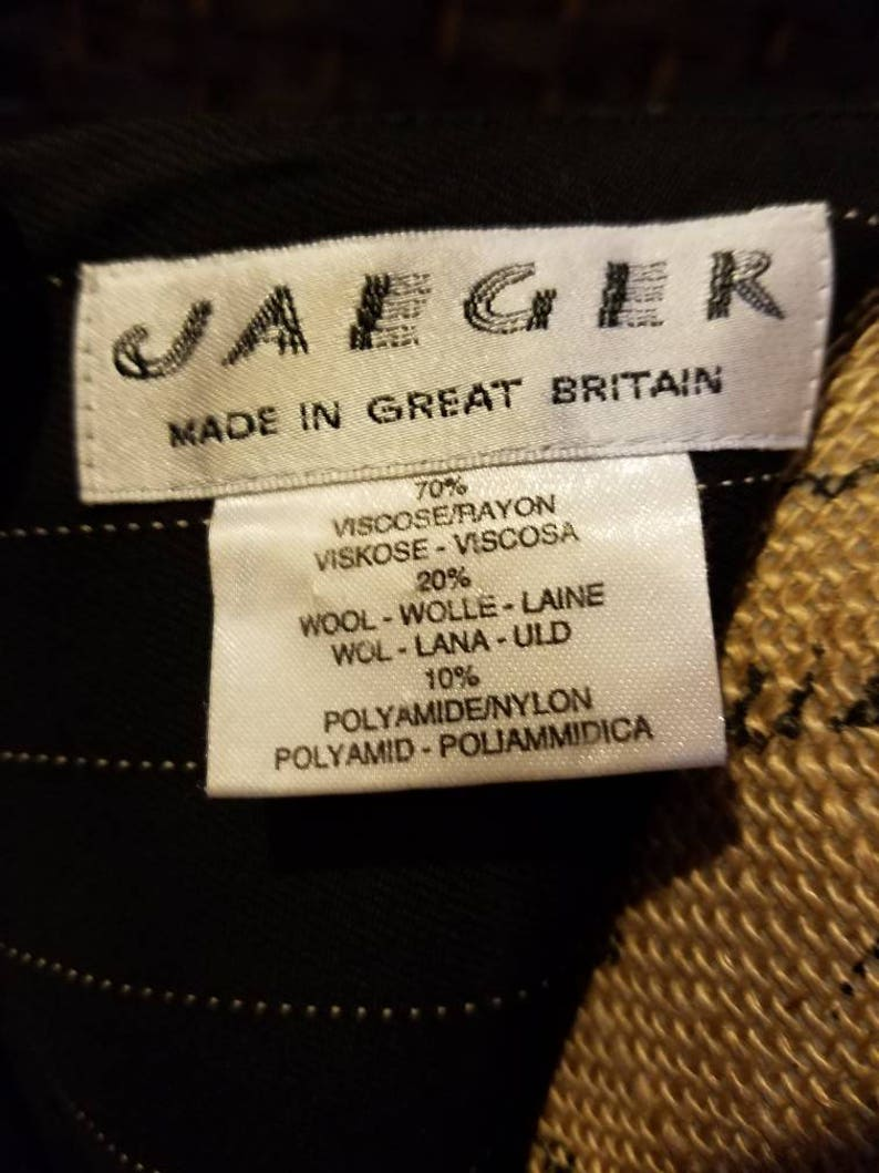 Jaeger Dress Made in Great Britain Ladies Dress Size Large Black White Office Casual Dining Business Lunch Jaeger Wedding Party Reception