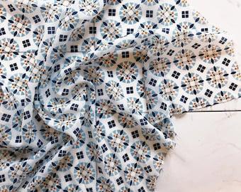 Silk Neck Scarf/Accessory (Moroccan tile)