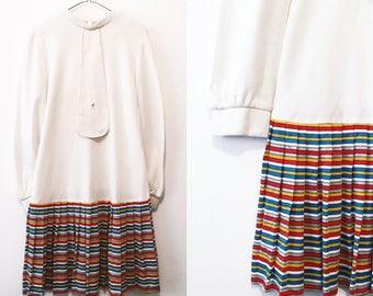Retro Rainbow Statement Dress