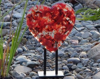 garden sculpture mothers day decor best gift mom valentines decor garden art glass decor glass garden art gift for her yard art - Glass Garden Art