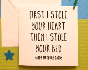 Daddy Birthday Card Funny Happy Fathers Day From Dog 1st The Bump Mummy Choice Of 2 Stocks