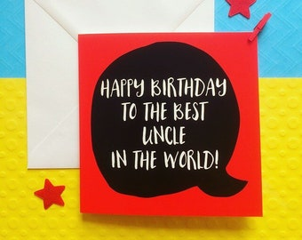 Uncle Birthday Card For Happy Him