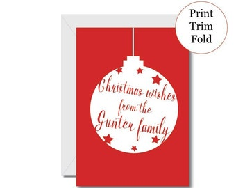 personalised christmas printable card print your own christmas card christmas wishes greeting card digital download christmas card