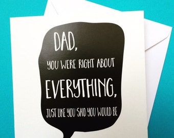 Dad Birthday Card From Daughter Funny Fathers Day 125cm Square