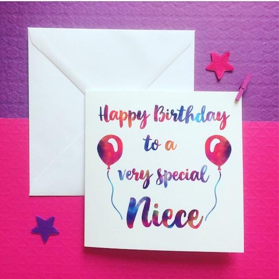 Niece Birthday Card Happy Birthday Niece Card Niece 1st Etsy