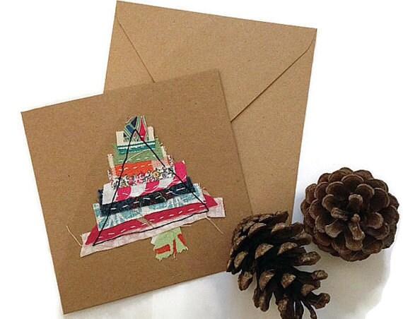 Unique Christmas Cards.Unique Christmas Cards Handmade Fabric Christmas Card Christmas Wrap Special Friend Christmas Card