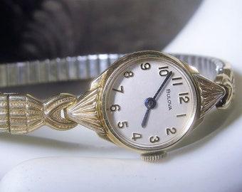 BULOVA Wrist Watch, Ladies Watch, Wrist Watch, Womens Wrist Watch, Mechanical Watch, 1976 Wrist Watch, 10K RGP, Vintage Ladies Wrist Watch