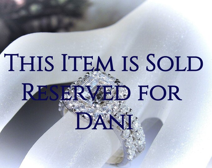 Reserved for Dani - 4th Final Payment: Sterling Silver Bridal Rings, CZ Ring Set, Engagement Ring, Wedding Band, Travel Rings, Wedding Rings