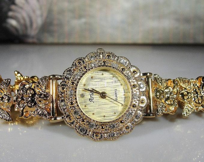 "ARIEL ""Angels & Ministers of Grace Defend Us"" Womens Quartz Wrist Watch"