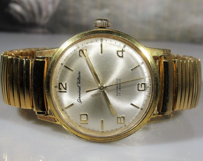 GERMINAL VOLTAIRE Wrist Watch, Men's Automatic Wrist Watch, Circa 1960s, 37mm including the Crown, Water Protected, 17J, Vintage Wrist Watch