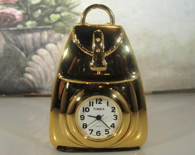 TIMEX Miniature Quartz Backpack Clock - Collectible