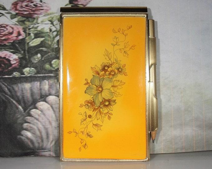 Vintage Notepad and Pencil Compact - Purse or Handbag Accessory