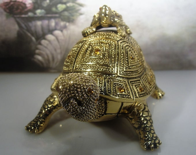 BOMBAY COMPANY, Brass Turtle Desk Set, Desk Set,3 Piece Desk Set, Turtle Letter Opener, Turtle Magnifying Glass, Turtle Paperweight