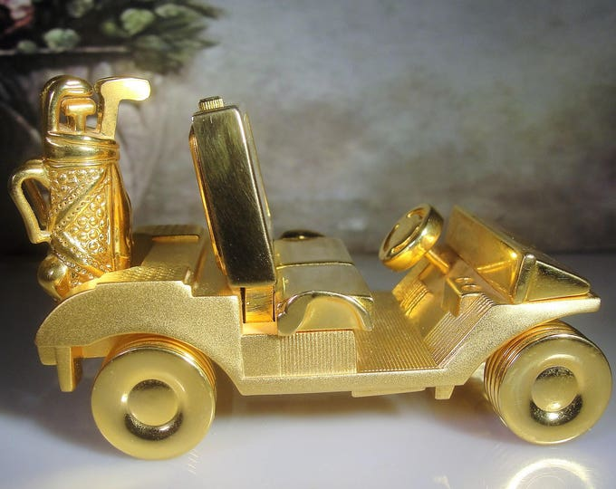 Golf Cart Clock, Gold Cart Clock, Miniature Clock, Mini Golf Cart Clock, Golf, Desk Clock, Novelty Clock, Vintage Clock