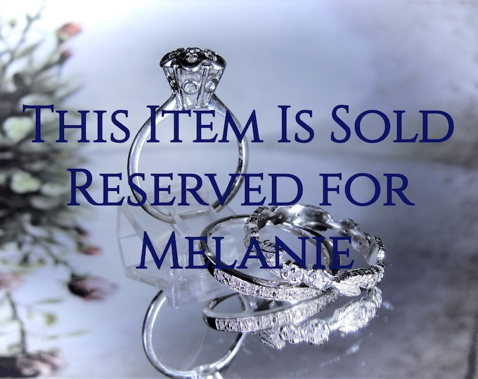 Reserved for Melanie-2nd Payment: 10K Victorian Bridal Ring Set, White Gold, Stacking Rings, Engagement Ring, Wedding Band, Anniversary Band
