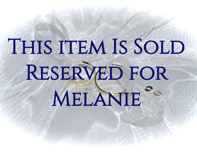 Reserved for Melanie - 7th Payment - 14K Two Toned White and Yellow Gold Bride and Groom Wedding Bands