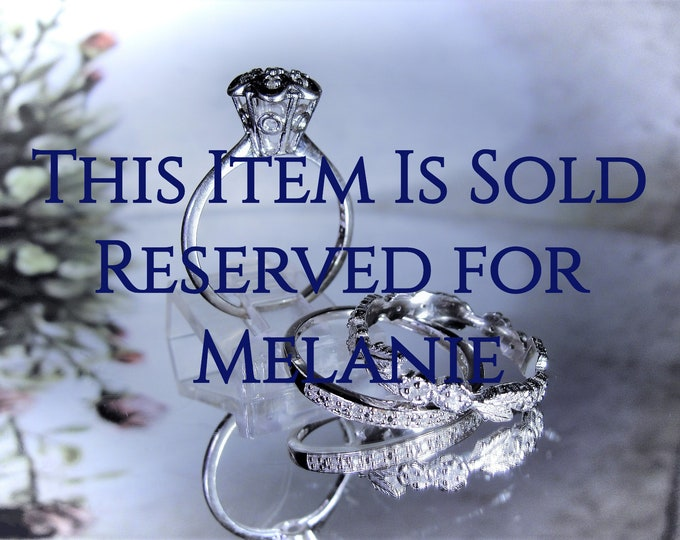 Reserved for Melanie-5th Payment: 10K Victorian Bridal Ring Set, White Gold, Stacking Rings, Engagement Ring, Wedding Band, Anniversary Band