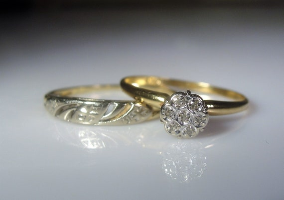 10k Bridal Rings Wedding Rings Bride Rings Engagement Ring Etsy