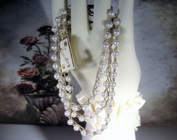 Jewelry Set, EISENBERG Pearl Necklace & Bracelet Jewelry Set, Midcentury Jewelry Set, Wedding Accessory, Vintage Set