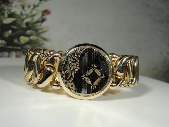 Locket Bracelet, Vintage 1940s 14K Gold Filled Pet