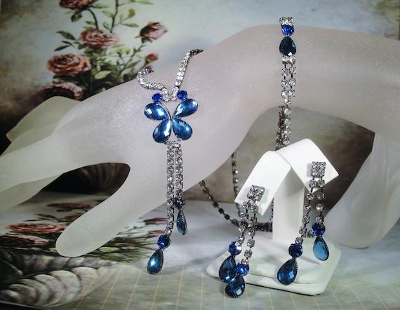 Blue Butterfly Jewelry: Blue Butterfly Jewelry Set Butterfly Necklace Blue