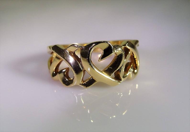 3b4457220 TIFFANY & Co. Paloma Picasso 18K Open Heart Ring Designer | Etsy