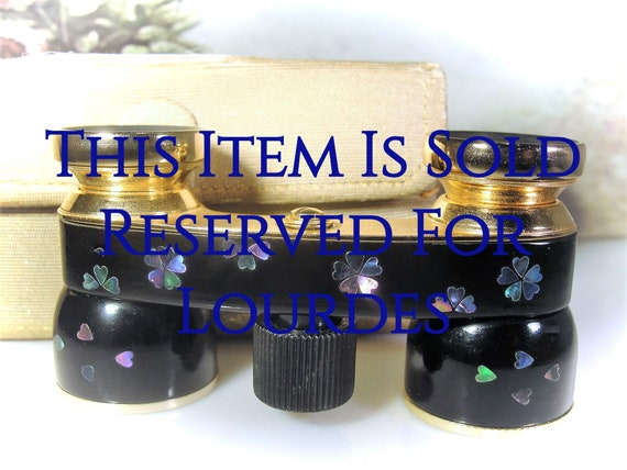 Reserved for Lourdes - 2nd Payment: Opera Glasses,