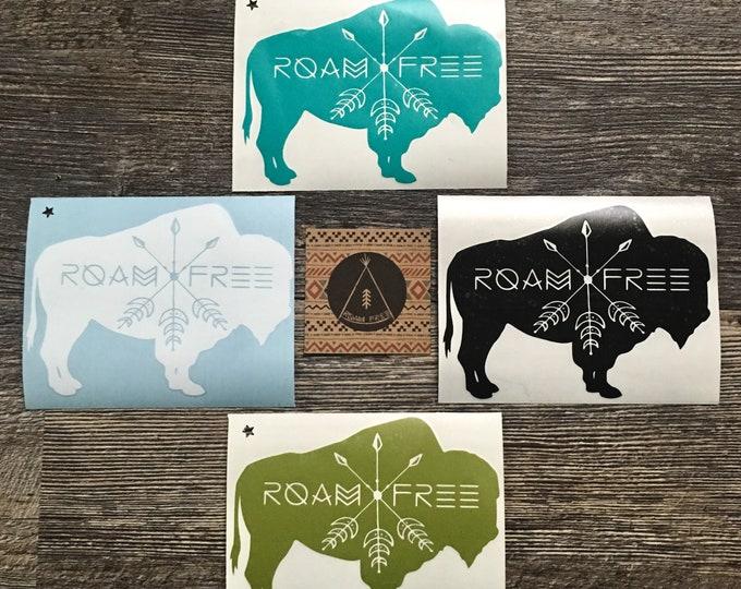 Roam Free Buffalo Decal