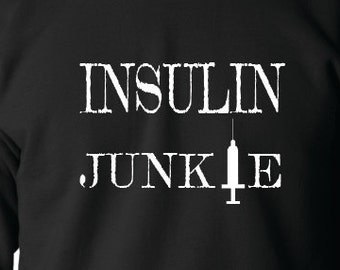 ff7ffac4482 Insulin Junkie Crewneck Sweatshirt, Diabetes Awareness, Diabetes  Fundraiser, Children With Diabetes, Diabetes Support