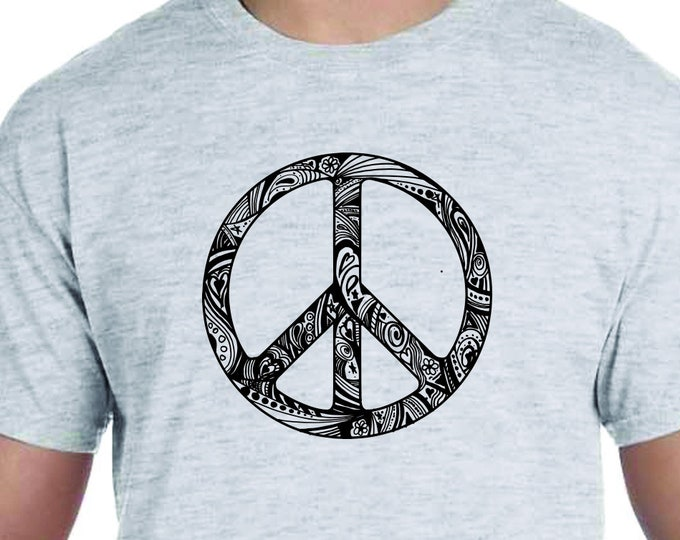 Featured listing image: Peace Sign, Peace, Love, Anti Gun, Activism, March for our lives, Gift SayingT-Shirt Printed 100% Cotton Gift T-Shirt