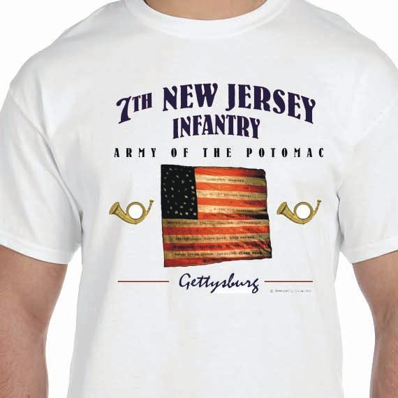 7th New Jersey Infantry Army of the Potomac Civil War 100% Cotton Gift T-Shirt