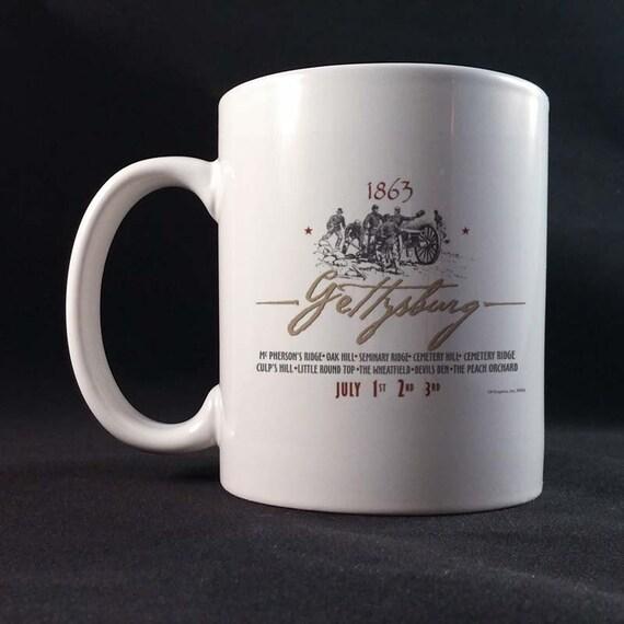 Gettysburg 150th Civil War Sesquicentennial Gift Mug 11 or 15 oz White Ceramic Mug