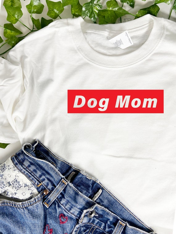 Dog Mom T-shirt, Dog Tee, Fur Mom, Dog Mom Gift, Dog Gift for Women. Choose with or without personalization.