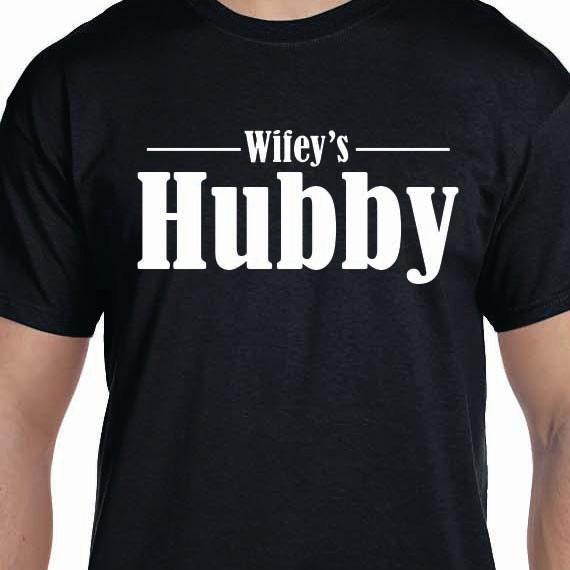 Wifey's Hubby Groom Husband 100% Cotton Gift T-Shirt