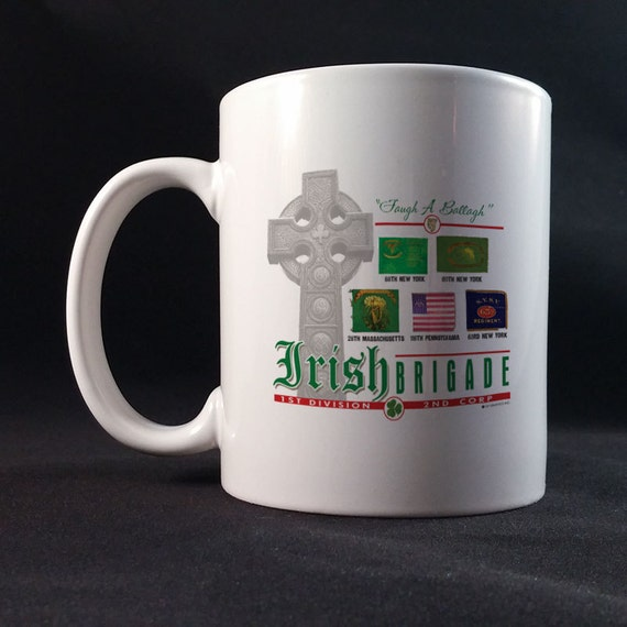 Irish Brigade Battle Flags Gift Mug 11 or 15 oz White Ceramic Mug