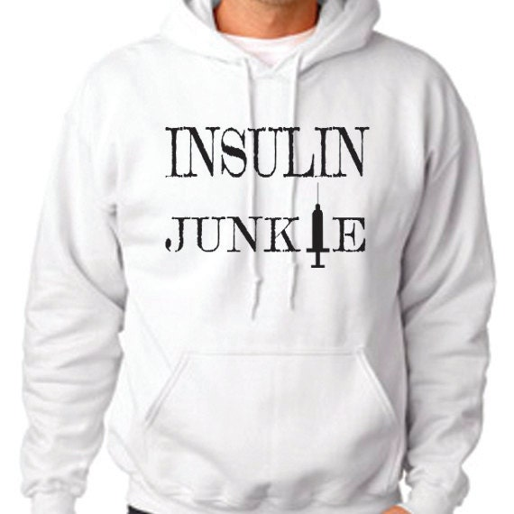 Insulin Junkie Hooded Sweatshirt, Diabetes Awareness, Diabetes Fundraiser, Children With Diabetes, Diabetes Support