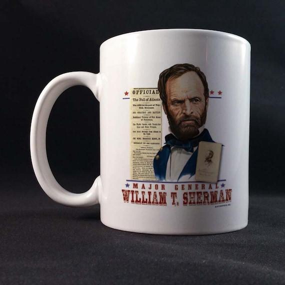 Major General William T Sherman 150th Civil War Sesquicentennial Gift Mug 11 or 15 oz White Ceramic Mug