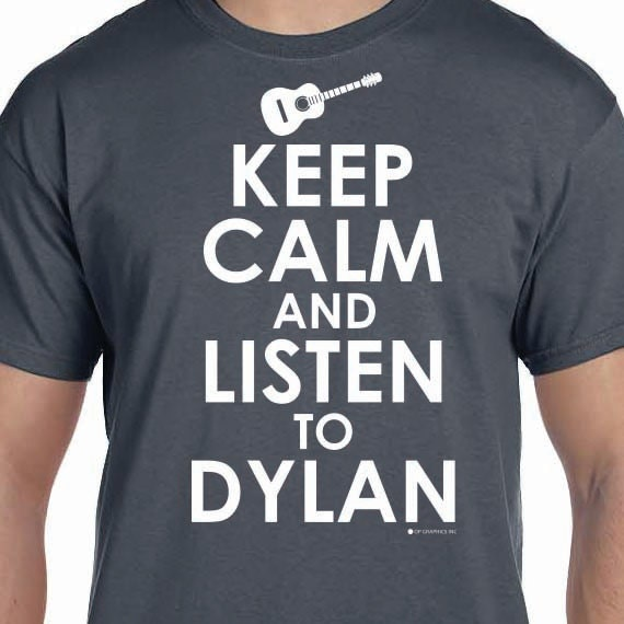 Keep Calm amd Listen To Dylan Printed 100% Cotton Gift T-Shirt