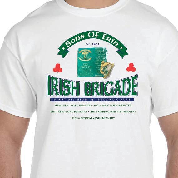 Irish Brigade Sons of Erin Civil War Printed 100% Cotton Gift T-Shirt