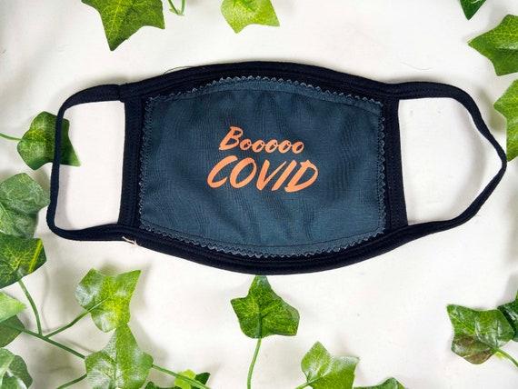 Boo Covid, Halloween Mask, Funny Mask, Reusable Face Mask, Halloween, 3 Ply Face Mask, One Size fits most