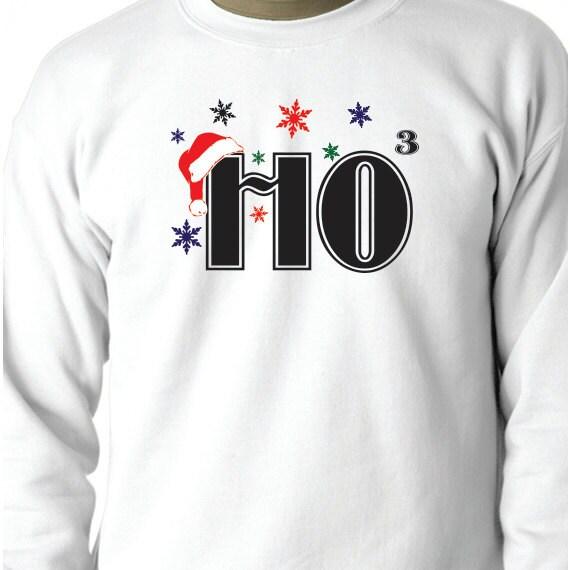HO3, HO HO HO, Christmas Sweatshirt, 50/50 Crewneck Sweatshirt, Christmas Gift, Christmas Present