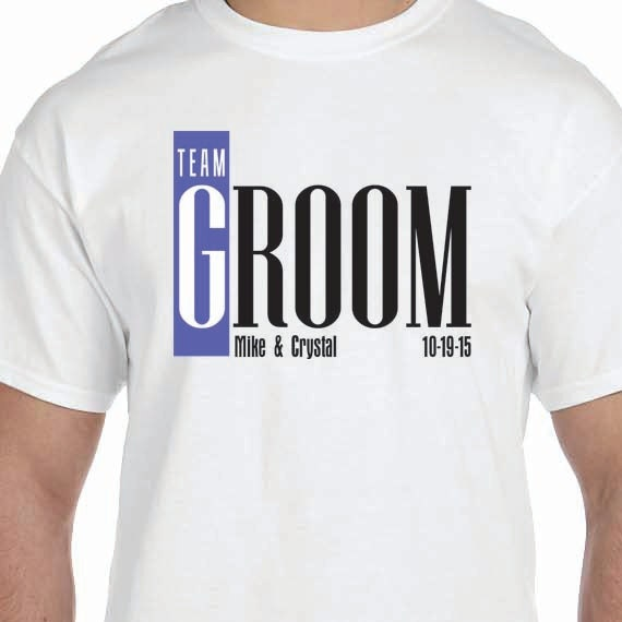 Team Groom Personalized Wedding Husband 100% Cotton Gift T-Shirt