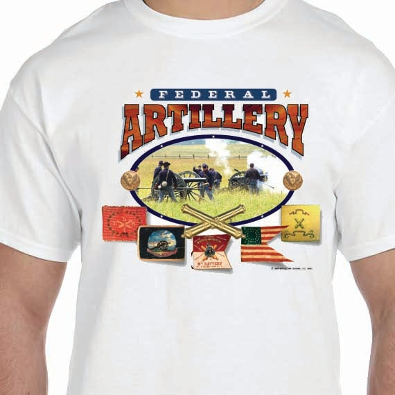 Federal Artillery Civil War Printed 100% Cotton Gift T-Shirt
