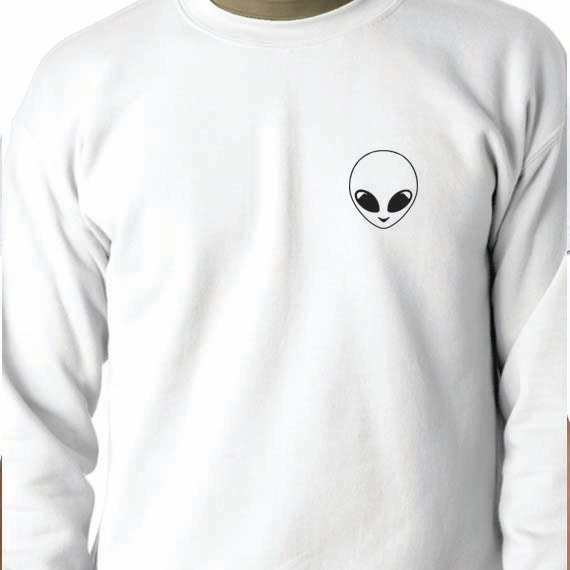 Alien Sweatshirt 50/50 Crewneck Sweatshirt, Funny Saying Printed 50/50 Crewneck Sweatshirt