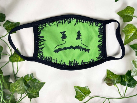 Billie Mask, Funny Face Mask, Reusable Face Mask, Washable. 3 Ply Face Mask, One Size fits most