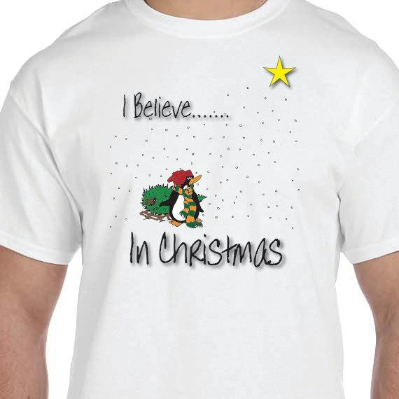 I Believe In Christmas, Christmas T-Shirt, Christmas Present 100% Cotton T-shirt