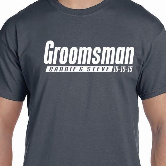 Groomsman Personalized Bachelor Party Groom Wedding 100% Cotton Gift T-Shirt